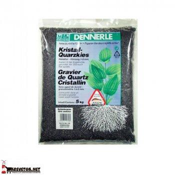 Грунт Dennerle Kristall Quarz Gravel черный 5кг